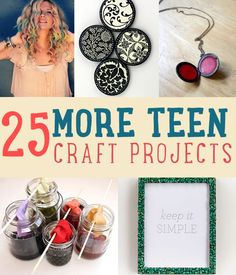 25 More Teen Craft Projects and Homemade Craft Ideas | DIY Projects for Teen Girls | Creative, cool and easy craft projects teenagers will love. Room decor, clothes and more http://diyready.com/25-more-cool-projects-for-teens-cool-crafts-for-teens/#DiyReady