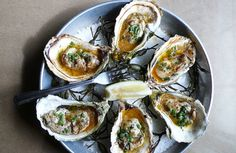 Tabasco lime butter oyster recipe.