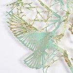 #magical Flocks of Birds Laser Cut from Maps by Claire Brewster