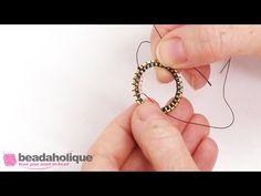 How to Finish Flat Cellini Stitch Bracelet - YouTube