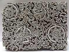 Indian Wooden Hand Carved Textile Printing Fabric Block Stamp. Jaipur, Rajasthan, India