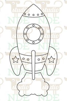 Digital Stamp – Space Rocket Spaceship – Printable Line Art for Card & Craft Supply. Clipart Commercial Use Digital Stamp Space Rocket Spaceship Printable Line by StudioNDE Quiet Book Patterns, Felt Patterns, Applique Patterns, Space Party, Space Theme, Art And Craft Videos, Busy Book, Arts And Crafts Movement, Crafts For Teens