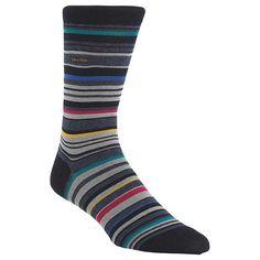 BuyCalvin Klein Barcode Stripe Socks, One Size, Navy Online at johnlewis.com