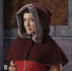 Hood, Buttoned 'London' Style, 14th-15th Century, Wool Historic Enterprises $64