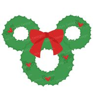 Christmas wreath SVG cutting file and clipart