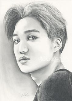 Just Like This by FallThruStardust on DeviantArt Kpop Drawings, Cartoon Drawings, Pencil Drawings, K Pop, Kai Arts, Witchy Wallpaper, Exo Anime, Human Sketch, Doll Drawing