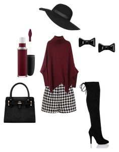 """""""Winter shorts"""" by flymommy on Polyvore featuring Emma Cook, Marc by Marc Jacobs, Topshop, MAC Cosmetics, women's clothing, women, female, woman, misses and juniors"""