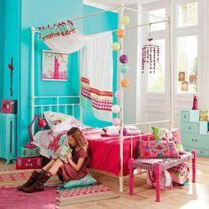 pintar un dormitorio juvenil maisons turquesa