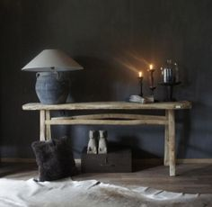 Sidetable 1873780 Muurtafel Herberslifestyle Small Tables, Side Tables, Belgian Style, Vignettes, My Dream Home, Benches, Provence, Consoles, Entryway Tables