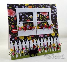 KC Poppy Stamps Small Madison Window Set 2 left