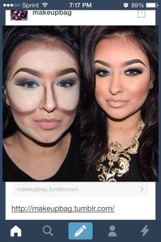 Makeup conturing