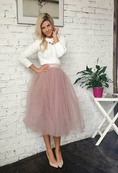 b3bcf2cce7 Blush Tulle Skirt, White and Blush Tulle Skirt Bridal, Women Tulle Skirt,  Princess