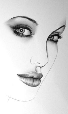 Angelina jolie – Keep up with the times. Girl Drawing Sketches, Art Drawings Sketches Simple, Drawing Ideas, Pencil Portrait, Portrait Art, Drawing Portraits, Gif Kunst, Illustration Au Crayon, Pencil Drawing Images