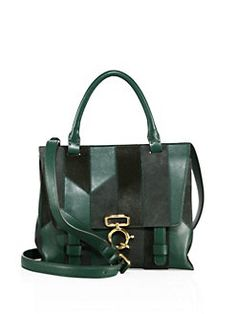 Derek Lam 10 Crosby - Mini Ave A Patchwork Top-Handle Satchel