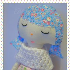 Excited to share the latest addition to my #etsy shop: Collectable doll Art doll Handmade doll Soft doll Nursery decor Doll with flowers Tiny flowers Gifts for girls Home decor Blue Pink doll
