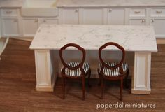 Paper Doll Miniatures: Easy Faux Marble Countertops