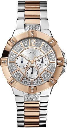 #Guess #Watch , GUESS U0024L1 Silver/Rose Gold
