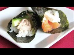 Hand Roll Sushi Recipe Video - Japanese Cooking 101   Easy Japanese Recipes