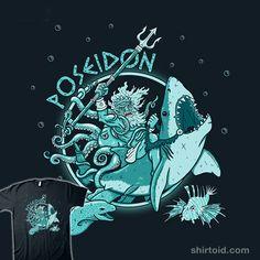 Poseidon #greekgod #greekmythology #octopus #poseidon #shark #simic