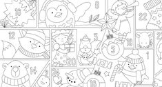 Here's a brand new festive illustration to download in anticipation of Advent. Colour in one section per day, or go ahead and fill in the whole lot in one go!