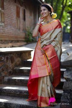 Kanchipuram Silk Sarees Shop in Chennai Bridal Kanchipuram Sarees - House of Ayana Kanjivaram Sarees Silk, Indian Silk Sarees, Indian Beauty Saree, Bengali Saree, Mysore Silk Saree, Soft Silk Sarees, Trendy Sarees, Stylish Sarees, Latest Silk Sarees