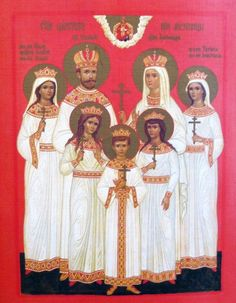 The Romanov family, canonized as saints by the Russian Orthodox Church.