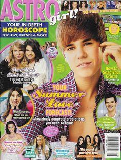 9cf395f1c09 Astro Girl magazine Justin Bieber Taylor Swift Demi Lovato Miley Cyrus  Posters Girls Magazine