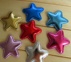 50Y45155  25*25mm PU star hair accessories 50 pieces, DIY handmade materials, wedding gift wrap