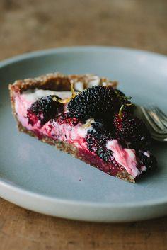 mulberry lemon yoghurt tart   my darling lemon thyme
