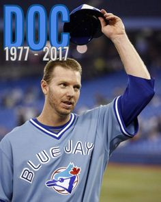 "Toronto Blue Jays ""There will never be another Doc. No Crying In Baseball, Baseball Boys, Baseball Games, Softball, Mlb Blue Jays, Cy Young Award, Mlb Players, American League, Toronto Blue Jays"