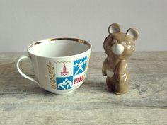 Vintage Soviet Mug Olympic Games 80 Russian by OldTimeGoods