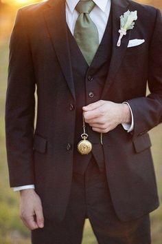 42 Vintage Wedding Groom Looks That Inspire Olive Green Weddings, Olive Wedding, Wedding Groom, Wedding Men, Wedding Attire, Wedding Decor, Wedding Ideas, Wedding Venues, Khaki Wedding