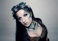 #Vampirefreaks costume winner Ambellina as a future/cybrg-goth