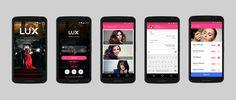 Lux Mobile App for women's beauty looks Designed by Mirza Iftekar