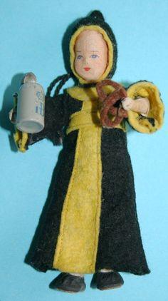 Vintage German Erna Meyer Cloth Stockinet Doll All Original Munich Child 1950s