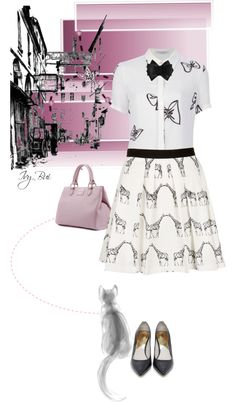 """Topshop skirt"" by ivybui on Polyvore"