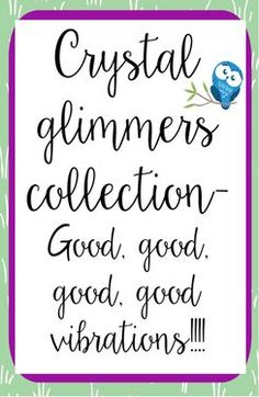 Get your Crystal Glimmers Collection today and keep the good vibrations going! Member Article posted by Savanna Robinson on Sassy Direct.