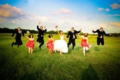 bad example,  but kiddies in front, adults in back, bride/groom close, everyone else spread out?