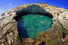Giola, the natural swimming pool in Thassos island, Greece