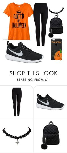 """""""Halloween excercise"""" by westset ❤ liked on Polyvore featuring NIKE and Forever 21"""