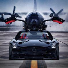 SLS Mercedes Benz and AC130