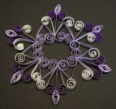 Handmade Quilling or Quilled Snowflake  Ornament  by claynfaye. , via Etsy.