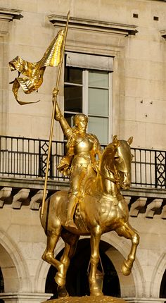 Jeanne d'Arc Paris...down the street from the Louvre