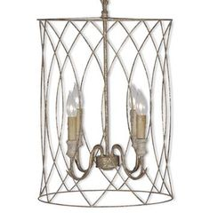 Mia French Country Antique Gold Metal Pendant Chandelier