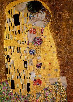 Gustav Klimt The Kiss - Painting Art Klimt, Famous Art, Painting Wallpaper, Aesthetic Art, Art Plastique, Art History, Les Oeuvres, Art Nouveau, Impressionism
