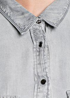 MANGO - Grey wash tencel shirt #FW13