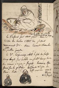 Travel Sketchbook, Sketchbook Pages, Eugène Delacroix, Letter Find, Beautiful Notebooks, Drawing Sketches, Drawings, Handwritten Letters, Art Graphique