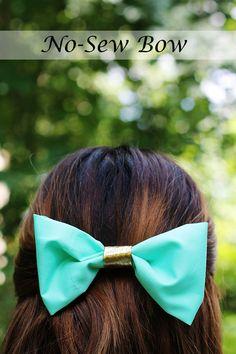DIY No-Sew Hair Bow