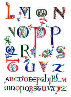 Alphabet dating letter o