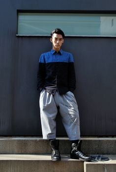 Area: Harajuku,Tokyo | 原宿,東京 Name: Ryu Shirt: Gareth Pugh | ガレス ピュー Shoes: ALEX MATTSSON | アレックス マットソン Favorite shops: CANDY | キャンディ Favorite brands: D.TT.K | ディティーティーケー